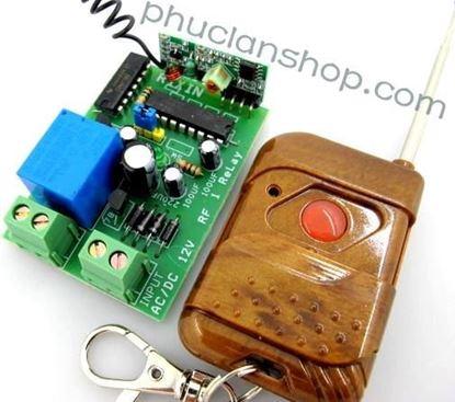 Picture of Bộ điều khiển dùng sóng RF tắt/ mở 1 thiết bị remote 1 nút nhấn